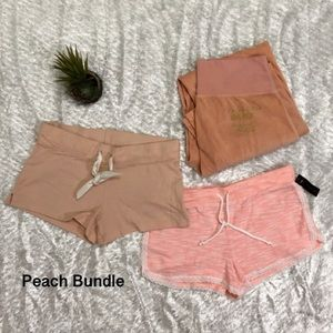 Peach Lounge Shorts And Pant Bundle